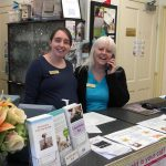 Sue and Beverley in reception